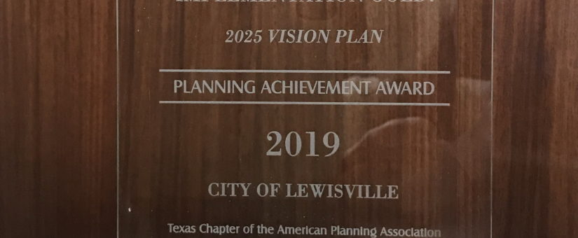 Texas APA Planning Achievement Gold Award for Implementation